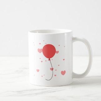 Caneca De Café Balões & corações cor-de-rosa