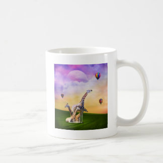 Caneca De Café Balões de observação do girafa