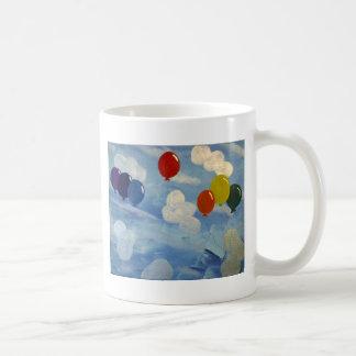 Caneca De Café balões nas nuvens