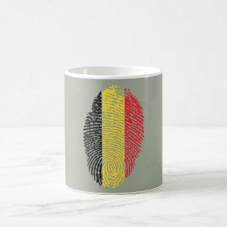 Caneca De Café Bandeira belga da impressão digital do toque