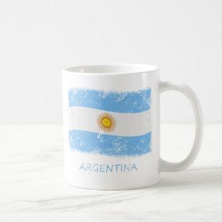 Caneca De Café Bandeira de Argentina do Grunge