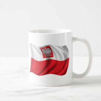Caneca De Café Bandeira ondulada do Polônia