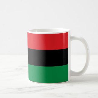 Caneca De Café Bandeira pan-Africano preta e verde vermelha de