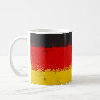 Caneca De Café Bandeira pintada Splatter do Grunge de Alemanha