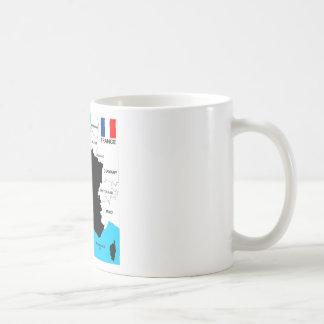Caneca De Café bandeira política do mapa do país de france