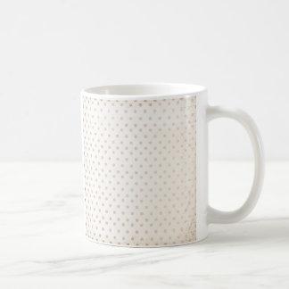 Caneca De Café Bege dourado simples clássico do impressão