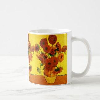 Caneca De Café Belas artes de Van Gogh, vaso com 15 girassóis