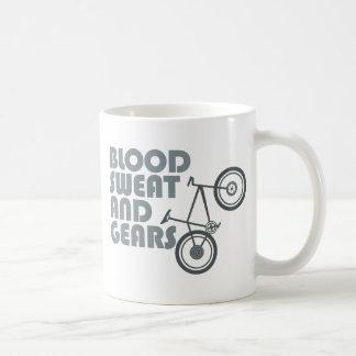 Caneca De Café Bicicleta - sangue, suor e engrenagens