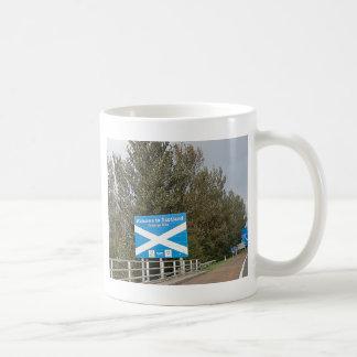 Caneca De Café Boa vinda a Scotland - sinal de beira