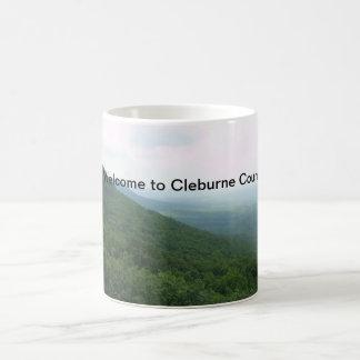 """Caneca De Café """"Boa vinda copo de café de Cleburne County"""""""