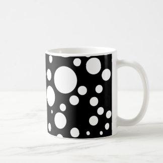 Caneca De Café bolinhas brancas pretas