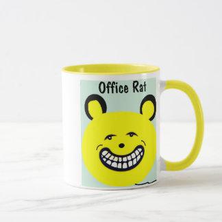 Caneca de café bonito do escritório que diz o rato