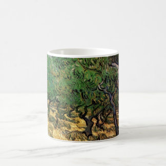Caneca De Café Bosque verde-oliva de Van Gogh, belas artes da