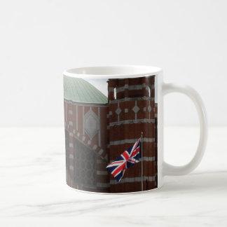 Caneca de café branco de Reino Unido da catedral