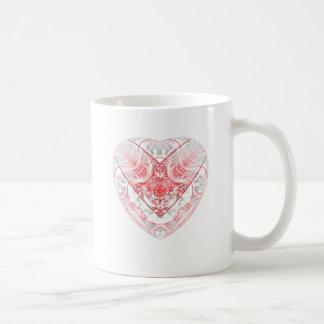 Caneca De Café Branco do coração de sangramento