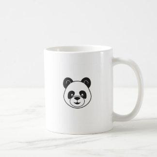 Caneca De Café Cabeça panda preto e branco