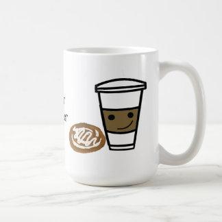 Caneca De Café Café e doce com provérbio bonito
