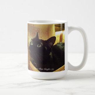 Caneca De Café Caixa dourada de /Antique do gato Burmese, série