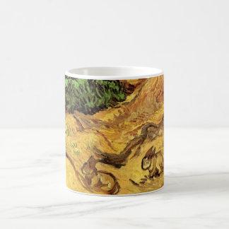 Caneca De Café Campo com dois coelhos, belas artes de Van Gogh do
