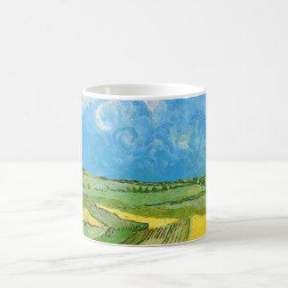 Caneca De Café Campos de trigo de Van Gogh em Auvers sob o céu