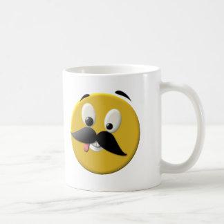 Caneca De Café Cara feliz pateta com bigode