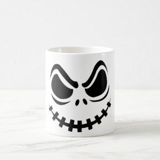 Caneca De Café cara irritada preta no fundo branco