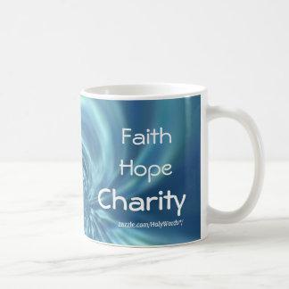Caneca De Café Caridade da esperança da fé