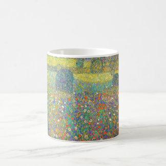 Caneca De Café Casa de campo de Gustavo Klimt pelo Attersee