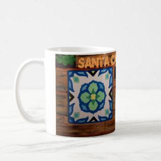Caneca de café CatalinaClayWorks do azulejo de