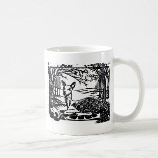 Caneca De Café Cervos voados Peryton Mystical