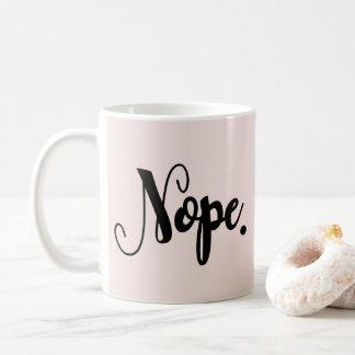 Caneca De Café Chique mão-indicado por letras engraçado da