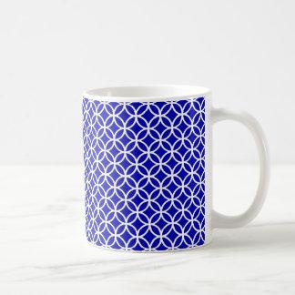 Caneca De Café Círculo branco azul da vida