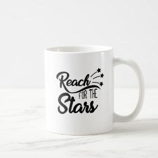 Caneca De Café Citações inspiradores: Alcance para as estrelas