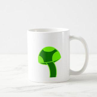 Caneca De Café Cogumelo manchado verde