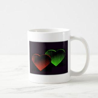 Caneca De Café Colagem-IIi dos corações