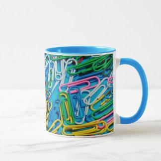Caneca de café colorida do design do clipe
