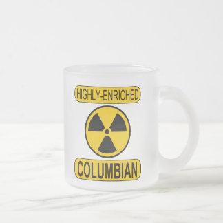 Caneca de café Columbian enriquecida gelado do