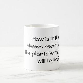 Caneca de café com provérbio inspirado YACF