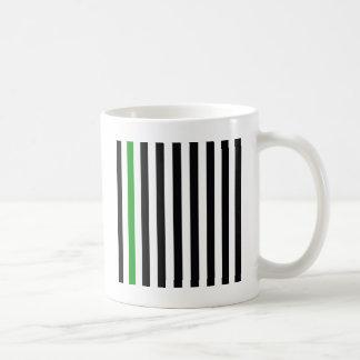 Caneca De Café Com uma listra verde