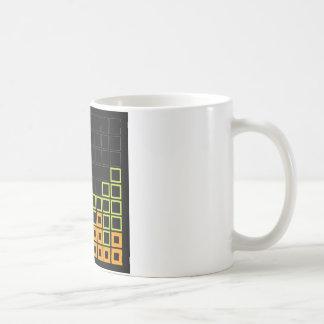 Caneca De Café Composição abstrata com quadrados