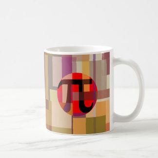Caneca De Café Composição moderna do Pi, geométrica