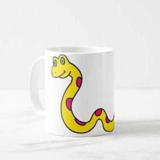 Caneca De Café Copo amarelo do cobra - copo do animal dos
