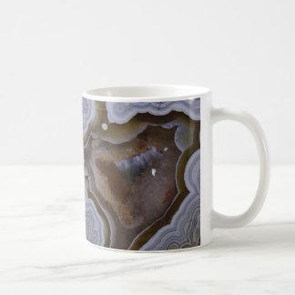 Caneca De Café Copo de café da pedra de gema da ágata