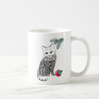 Caneca De Café Copo do gatinho do gatinho do Natal