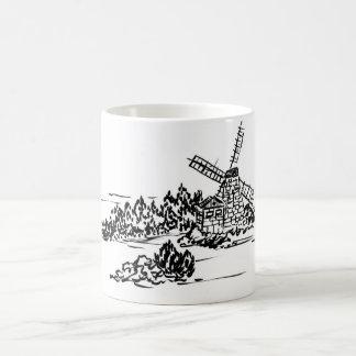 Caneca De Café Copo holandês do moinho de vento
