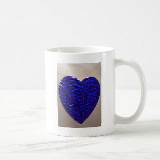 Caneca De Café Coração azul grande do amor