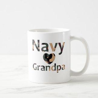 Caneca De Café Coração Camo do vovô do marinho