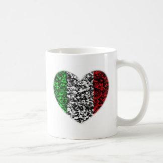 Caneca De Café Coração de Italia