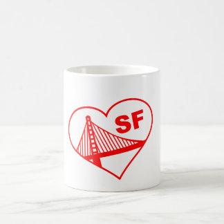 Caneca De Café Coração de San Francisco do amor