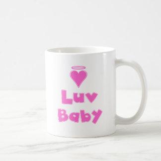 Caneca De Café Coração do anjo do bebê de Luv